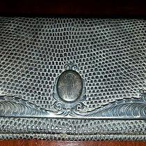Antique Tiffany  Sterling Purse Snake Skin Leather Photo