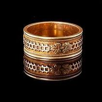 Antique Victorian 14k Rose Gold Cigar Wedding Band Ring  (03151515) Photo