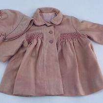 Antique Victorian Baby Girl Blush Pink Coat Silk Lined and Bonnet Toddler. B16 Photo