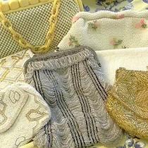 Antique Victorian Vintage Glass Bead/mesh Estate Purse Lot Walborg Whiting Davis Photo