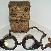 Antique Vintage Glass American Optical Company Safety Motorcycle Welding Goggles Photo