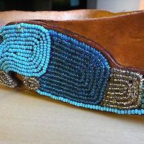 Antique Vintage Native American Beaded Parrot and Leather Belt Mint Nr Photo