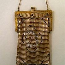 Antique Vintage Steel Mesh Purse With Daisy  Whiting Davis Photo