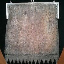 Antique Vintage Whiting and Davis Sterling Silver Mesh Chained Evening Bag Photo