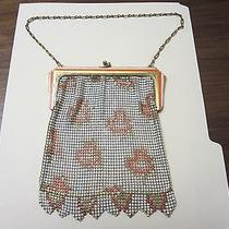 Antique Vintage Whiting & Davis Fine Woven Mesh Purse Art Deco Flapper Photo