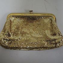 Antique Vintage Whiting & Davis Gold Mesh Handbag Clutch With Kisslock Closure Photo