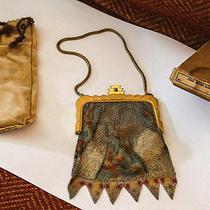 Antique Whiting and Davis Art-Deco Fine Mesh Bag Original Box Protective Bag Photo
