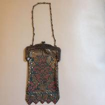 Antique Whiting and Davis Art Deco Small Painted Mesh Purse Photo
