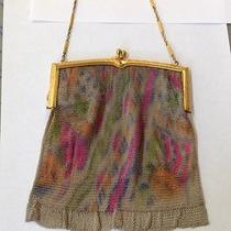 Antique Whiting and Davis Colorful Mesh Purse Beautiful Photo