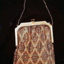 Antique Whiting and Davis Gold Metal Mesh Purse Bag Flapper           471 Photo