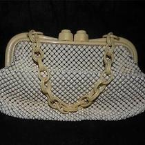 Antique Whiting & Davis Celluloid Alumesh Pursegreat Condition Photo