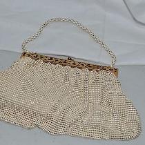Antique Whiting Davis Co. White Mesh Gold Tone Small Clutch Purse Bag Free Shipp Photo