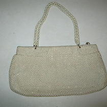 Antique Whiting & Davis Cream Colored Beaded Purse Photo
