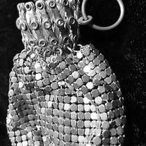 Antique Whiting Davis Deco Silver Mesh Chatelaine Finger Purse Art Deco Photo