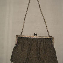 Antique Whiting & Davis German Silver Mesh Purse Photo