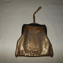 Antique Whiting & Davis Gold Mesh Purse Wrist Strap Handle Photo