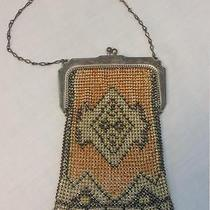 Antique Whiting & Davis Mesh Bag Metal Purse Enamel Artwork Navajo Design Vguc Photo