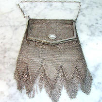 Antique Whiting & Davis Silver Mesh Lady's Purse Photo