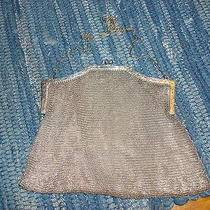 Antique Whiting & Davis Silver Mesh Purse Handbag Photo