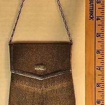 Antique Whiting & Davis Sterling Silver Mesh Envelope Purse Bag Photo