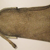 Antique Whiting & Davis Sterling Silver Mesh Purse With Amethyst on Latch Photo