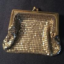 Antique Whiting & Davis Vintage Gold Mesh Coin Change Purse Photo