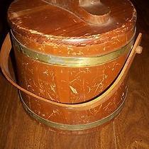 Antique Wooden Shoe Shine Bucket Photo