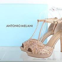Antonio Melani Blush Leather Ankle Strap Stilleto Sandals Shoes Sz. 7.5 M Photo