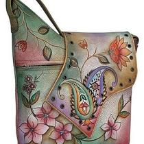 Anuschka Bags Hand Painted Leather Flap Bag 432jpp Photo