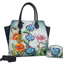 Anuschka Hand Painted Expandable Convertible Tote Floral Fantasy (551ffy) Photo