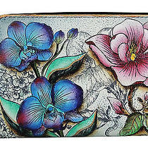 Anuschka Hand Painted Twin Zip Organizer Wallet Floral Fantasy(1125ffy) Photo