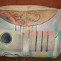 Anushka-Style Hand Painted Leather Purse Handbag - Size Large Photo
