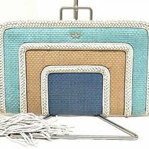 Anya Hindmarch Clutch Bag A2111003000 lt.blue Light Brown Multi Photo