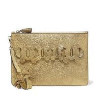 Anya Hindmarch Gold Glitter Clutch Bag Nib Rrp 668 Photo