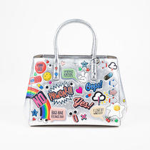 Anya Hindmarch Nwt 2700 Silver Multi Leather