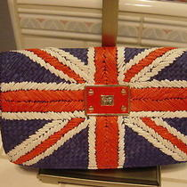 Anya Hindmarch Rare Union Jack Straw Clutch Bag - New - Rare Photo