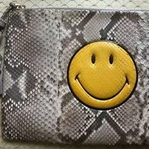 Anya Hindmarch Womans 2250 Grey Payton Happy Face Clutch  Nwtag Italy  Photo