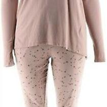 Anybody Lounger Tall Cozy Knit Novelty Pajama Set Blush Hearts L  A298209 Photo