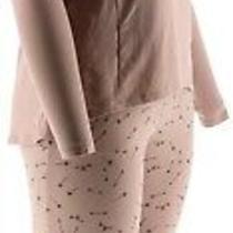 Anybody Loungewear Cozy Knit Novelty Print Pajama Set Blush Hearts L New A296084 Photo