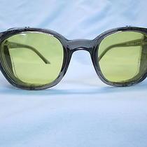 Ao American Optical Gray-Yellow 52 Hipster Sunglasses Grunge New Biker Photo