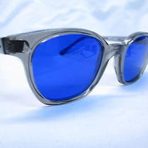 Ao American Optical Safety Glasses Gray-Cobalt Biker Cool 50 New Grunge Photo