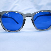 Ao American Optical Safety Glasses Gray /cobalt Lens Hipster 48 Grunge New Photo