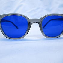 Ao American Optical Safety Glasses Gray-Cobalt Trendy 52 New  Nyc Grunge Photo
