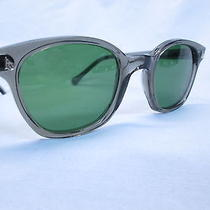 Ao Safety American Optical gray& Green 52 Eye Size Sunglasses Hipster New Photo