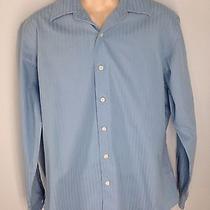 Apartment 9 Men's Button Up Shirt L Blue Superfine 80's Cotton Photo