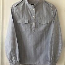 Apc Blue & White Striped Cotton Shirt - Size Xs Photo