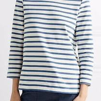 Apc Blue & White Striped Cotton Top - Size Xs Photo
