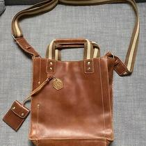 Apc Brown Tan Leather  Crossbody Travel Bag Messenger Vintage Photo