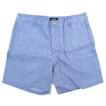 Apc Chambray Cotton Shorts Photo