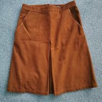 Apc Coco Corduroy Pleated Brown Skirt Size 40(euro) Photo